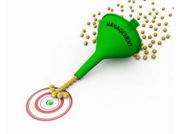 Sales Funnel Showing Lead Management Concept Stock Photo