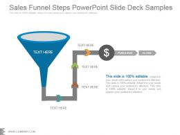 Sales Funnel Steps Powerpoint Slide Deck Samples