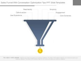 Sales Funnel With Conversation Optimization Tips Ppt Slide Templates
