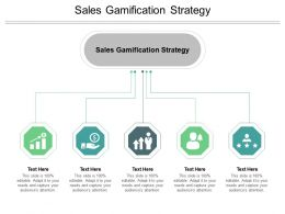 Sales Gamification Strategy Ppt Powerpoint Presentation Pictures Clipart Images Cpb