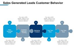 Sales Generated Leads Customer Behavior Tracking Marketing Problems Cpb
