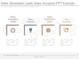 Sales Generated Leads Sales Accepted Ppt Example
