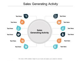 Sales Generating Activity Ppt Powerpoint Presentation Ideas Layouts Cpb