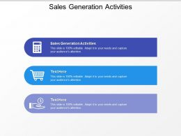 Sales Generation Activities Ppt Powerpoint Presentation Icon Graphics Download Cpb