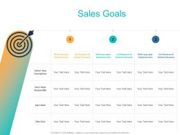Sales Goals Resources Ppt Powerpoint Presentation Outline Rules