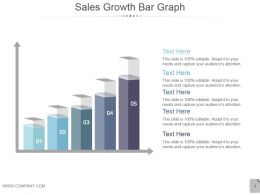 Sales Growth Bar Graph Powerpoint Templates