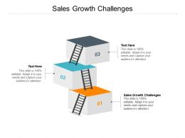 Sales Growth Challenges Ppt Powerpoint Presentation Styles Microsoft Cpb
