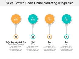 Sales Growth Goals Online Marketing Infographic Ppt Powerpoint Presentation Show Background Cpb