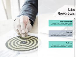 Sales Growth Goals Ppt Powerpoint Presentation Ideas Slideshow Cpb