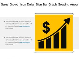 sales growth icon dollar sign bar graph growing arrow