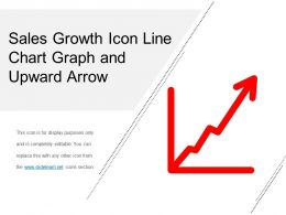 sales growth icon line chart graph and upward arrow