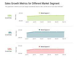 Sales Growth Metrics For Different Market Segment
