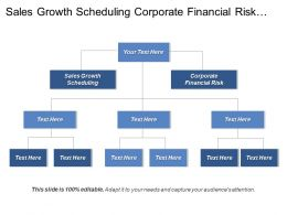 Sales Growth Scheduling Corporate Financial Risk Digital Product Manager Cpb