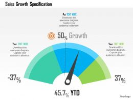 Sales Growth Specification Flat Powerpoint Design