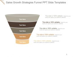 Sales Growth Strategies Funnel Ppt Slide Templates