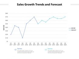 Sales Growth Trends And Forecast