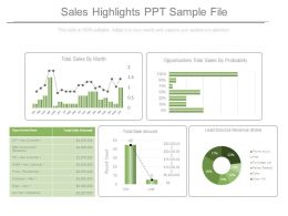 Sales Highlights Ppt Sample File