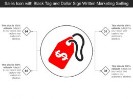 Sales Icon With Black Tag And Dollar Sign Written Marketing Selling