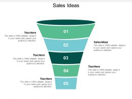Sales Ideas Ppt Powerpoint Presentation Infographic Template Diagrams Cpb