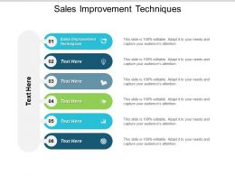 Sales Improvement Techniques Ppt Powerpoint Presentation Slides Topics Cpb