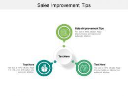 Sales Improvement Tips Ppt Powerpoint Presentation Ideas Topics Cpb