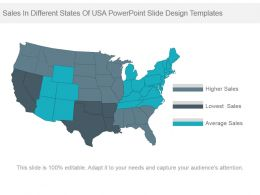 Sales In Different States Of Usa Powerpoint Slide Design Templates