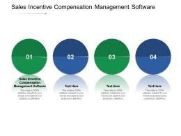Sales Incentive Compensation Management Software Ppt Powerpoint Presentation Layouts Infographic Cpb