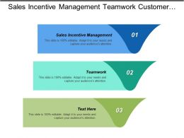 Sales Incentive Management Teamwork Customer Relationship Management Strategies