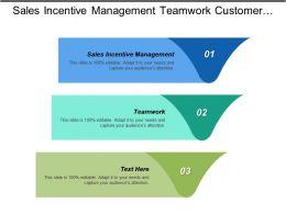 Sales Incentive Management Teamwork Customer Relationship Management Strategies