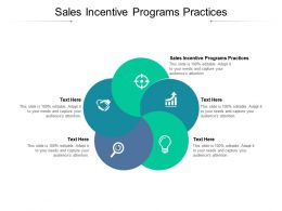 Sales Incentive Programs Practices Ppt Powerpoint Presentation Ideas Backgrounds Cpb