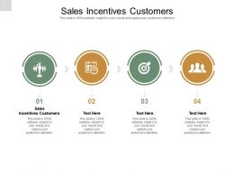 Sales Incentives Customers Ppt Powerpoint Presentation Ideas Gallery Cpb