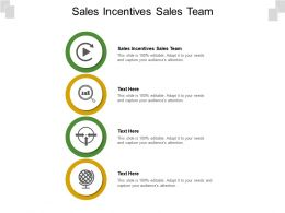 Sales Incentives Sales Team Ppt Powerpoint Presentation Pictures Graphics Cpb