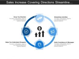 Sales Increase Covering Directions Streamlines Activities And Consistency