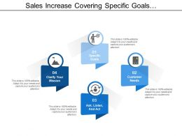 Sales Increase Covering Specific Goals Customer Needs And Clarify Mission