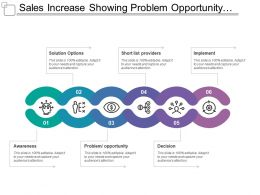 Sales Increase Showing Problem Opportunity Awareness Solutions Decisions