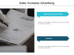 Sales Increases Advertising Ppt Powerpoint Presentation Ideas Clipart Cpb