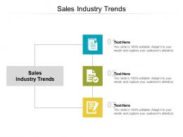 Sales Industry Trends Ppt Powerpoint Presentation Pictures Ideas Cpb