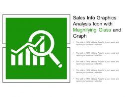 Sales Info Graphics Analysis Icon With Magnifying Glass And Graph