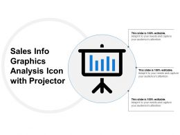 Sales Info Graphics Analysis Icon With Projector