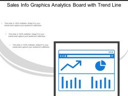 Sales Info Graphics Analytics Board With Trend Line