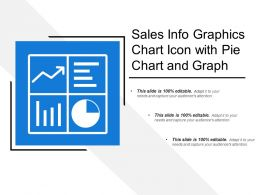 Sales Info Graphics Chart Icon With Pie Chart And Graph