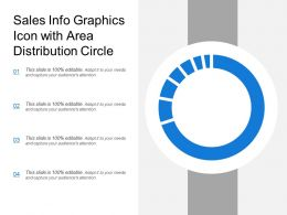 Sales Info Graphics Icon With Area Distribution Circle