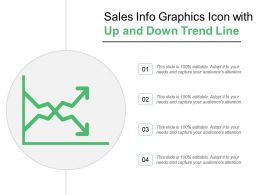 Sales Info Graphics Icon With Up And Down Trend Line