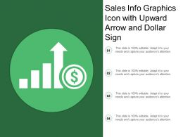 Sales Info Graphics Icon With Upward Arrow And Dollar Sign