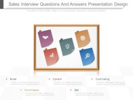 Sales Interview Questions And Answers Presentation Design