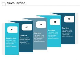 Sales Invoice Ppt Powerpoint Presentation Pictures Model Cpb