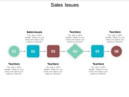 Sales Issues Ppt Powerpoint Presentation File Brochure Cpb
