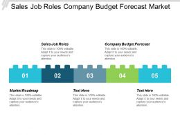 Sales Job Roles Company Budget Forecast Market Roadmap Cpb