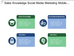 Sales Knowledge Social Media Marketing Mobile Applications Internal Analysis