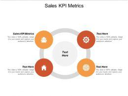 Sales KPI Metrics Ppt Powerpoint Presentation Styles Slide Cpb